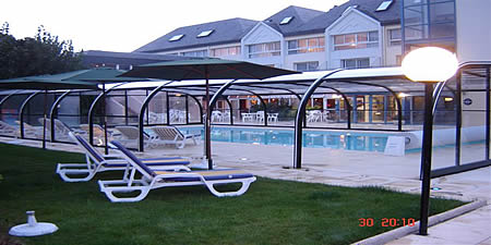 Outdoor,covered pool